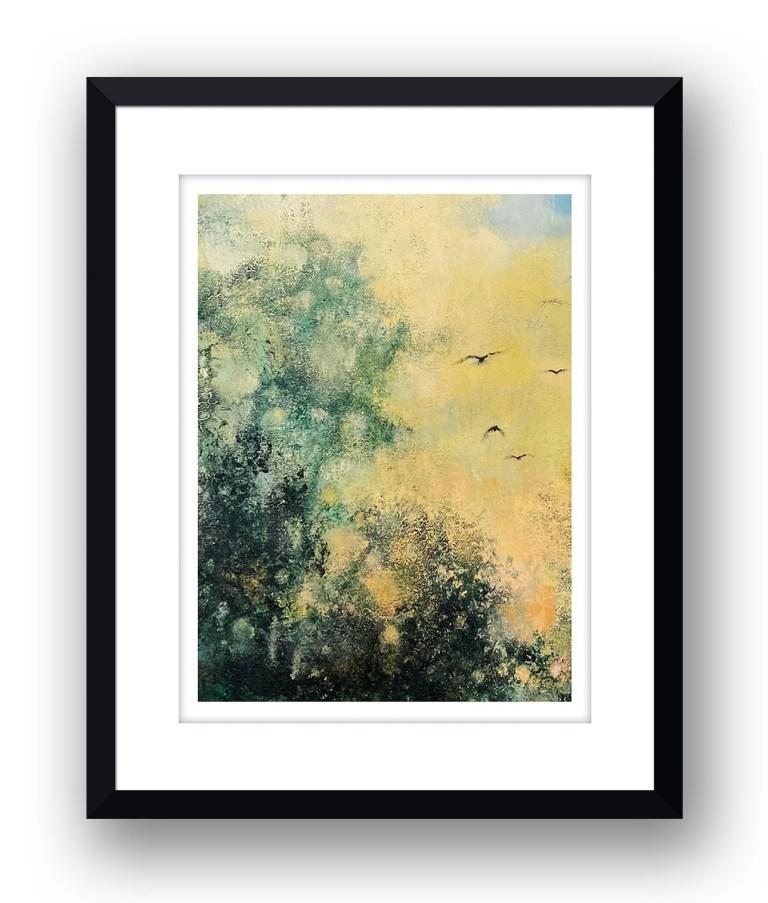 yellow duskMartin Allan artist and printmaker prints art images sunset framed print