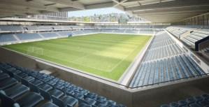 Ein echtes Fussballstadion