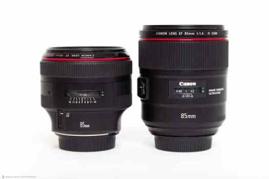 85mm f/1.2L II (left) 85mm f/1.4L IS (right)