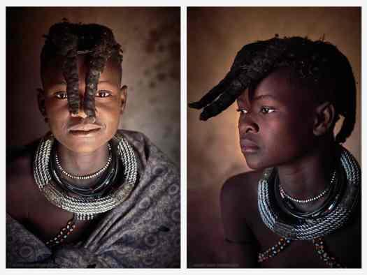 Himba Young Girl Portraits