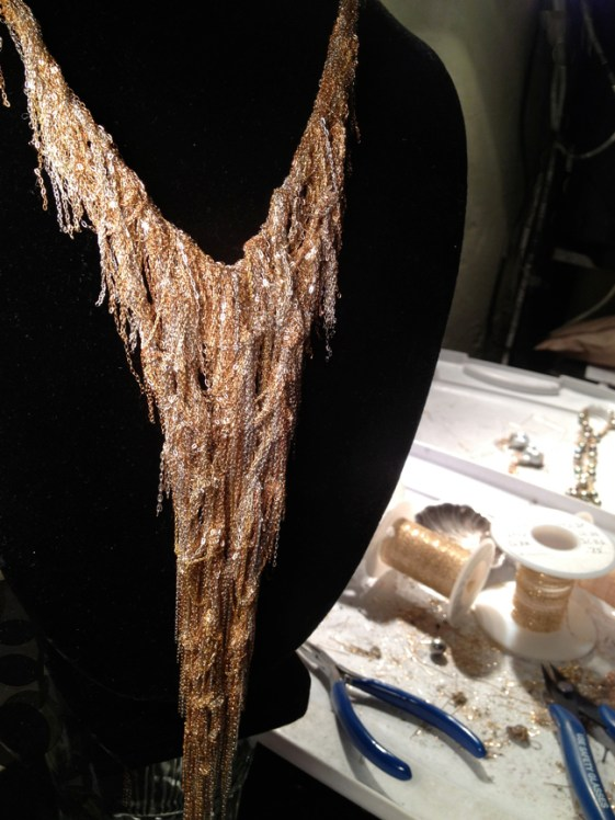 gold necklace, gold, jewelry