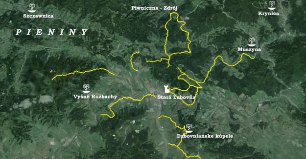 Mapa plánovaných úprav cyklotrás