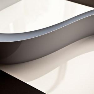 Chocolate Form Strips 1200mm x 75mm x 1mm cut strips white gloss upvc   (UPVC1200x75x1mm)