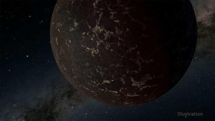 Concepto artístico del exoplaneta LHS 3844b, que tiene 1,3 veces la masa de la Tierra y orbita una estrella enana M. Crédito de la imagen: NASA/JPL-Caltech/R. Hurt (IPAC)