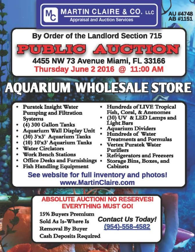 aquarium flyer