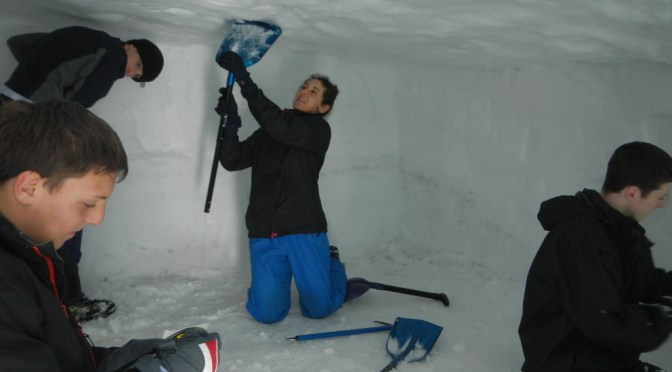 Snow Hole Expedition in the Cairngorms