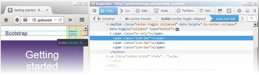 Bootstrap burger menu optimized as an icon – Martin Dubé – internet