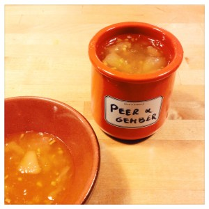 Peer en gember confituur - Pear and ginger jam