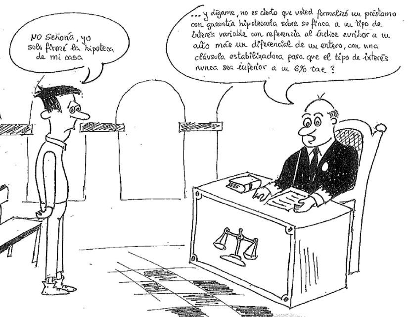 Chiste sobre la cláusula suelo Caja España