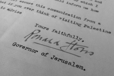 Courrier du Gouverneur de Jérusalem