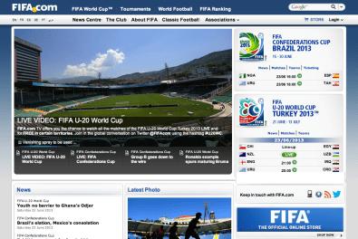 Le site officiel de la FIFA