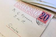 Cette époque où on pouvait se contenter d'une adresse lapidaire (notez le timbre surchargé)