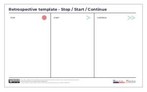 Agile Retrospective Stop Start Continue template