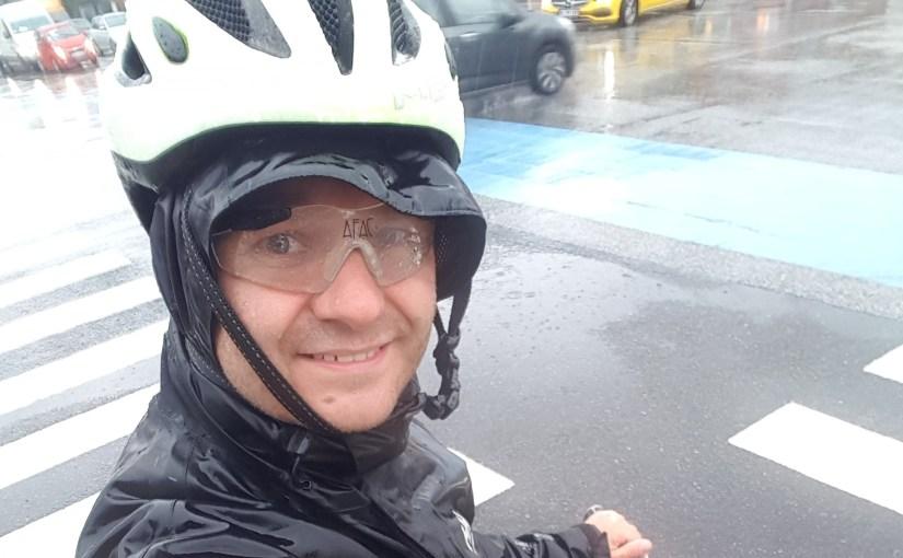 Cykelpendler i regnvejr :-)