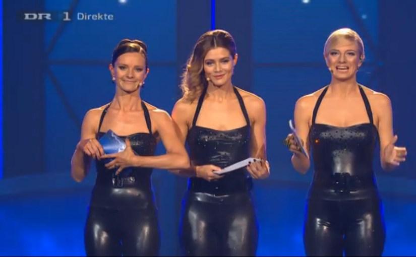 Værterne i Latex til dansk melodi grand prix