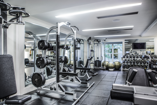 The gym in The Mark Hotel, NYC