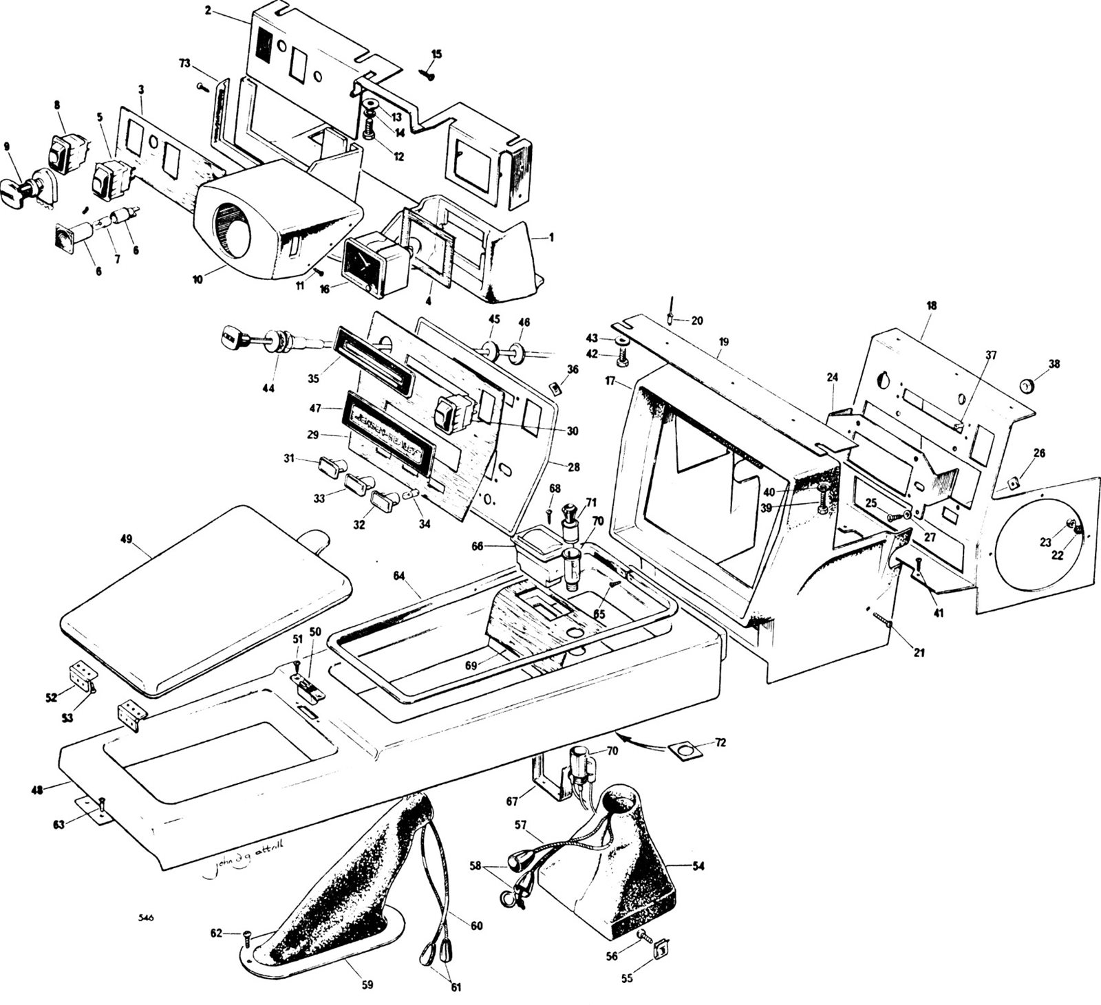 Steering Column Cowl Heater And Transmission Console