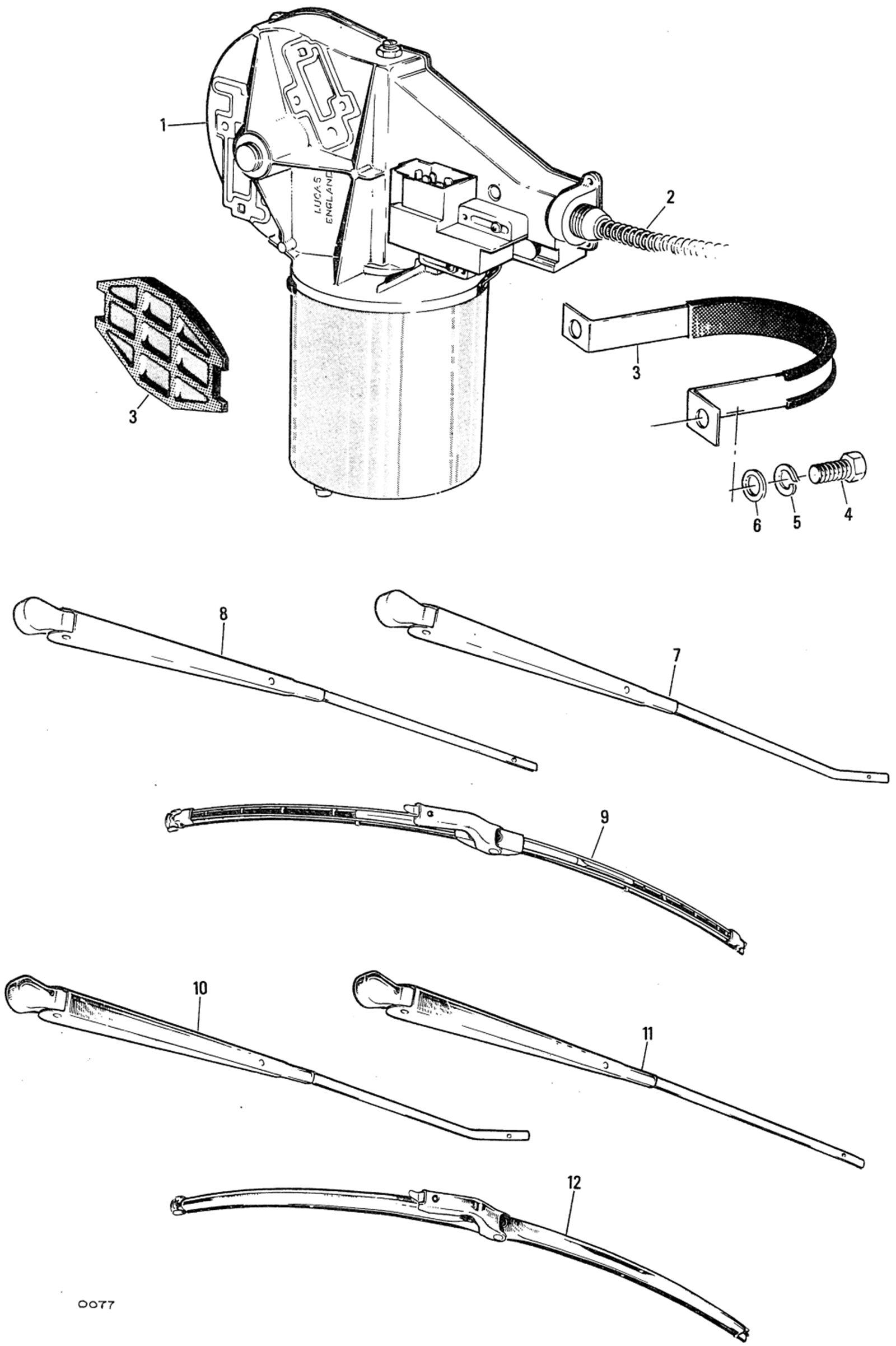Window Wiper Motor Arms And Blades