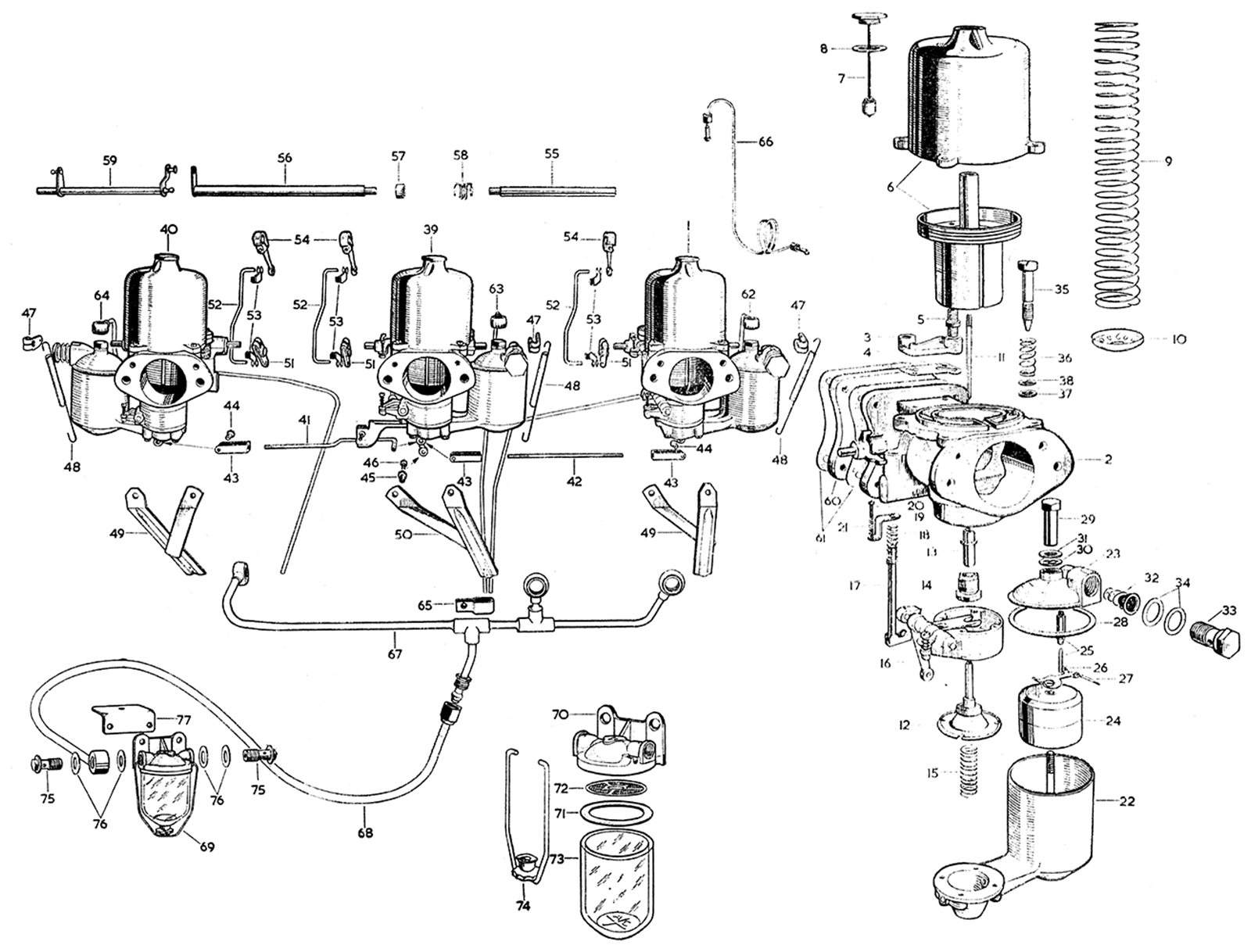 Carburettors And Petrol Filter