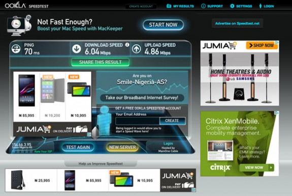 Speedtest-Smile