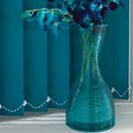 vertical blinds petrol blue