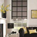 pinstripe black blinds
