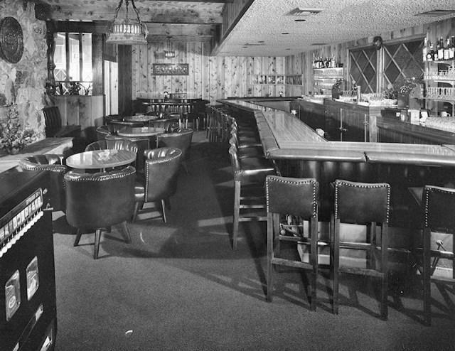 The Villa Capri restaurant in the 1950s