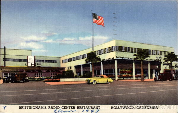 Brittingham's Radio Center Restaurant Hollywood