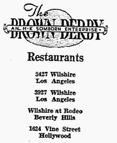 brown derby restaurants