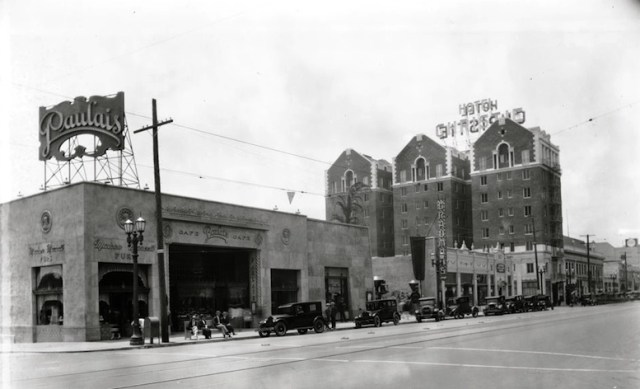 Paulais Cafe, Hollywood Blvd, 1920s