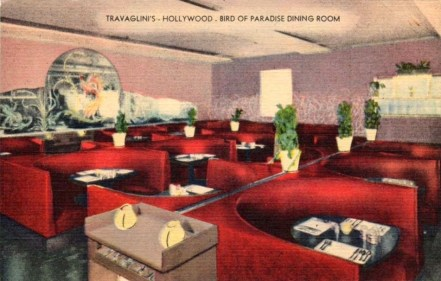 Travaglini's Café and Lounge - BIrd of Paradise dining room - 6480 Sunset Boulevard