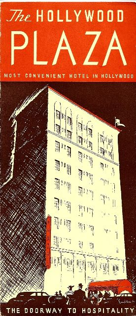 Advertisement for Hollywood Plaza Hote, Vine Street.jpg