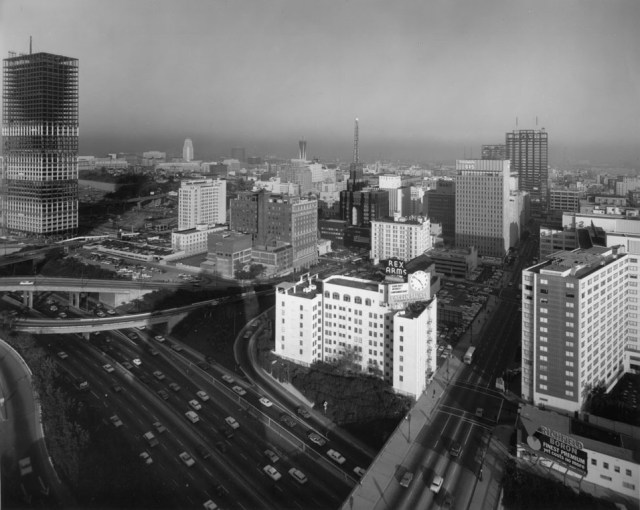 View of RIchfield Building, downtown Los Angeles, circa early 1960s