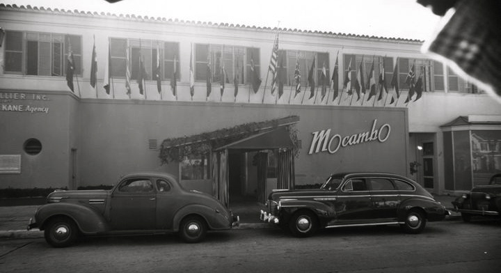 Front entrance of Mocambo nightclub on Sunset Blvd, circa 1941 |