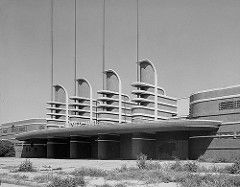 West facade of the Pan-Pacific Auditorium