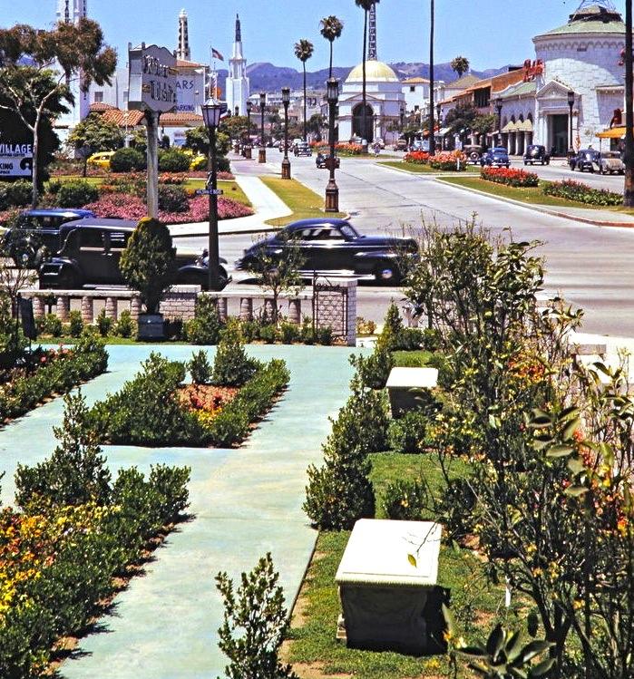 Westwood Blvd, Westwood, Los Angeles, California, Circa