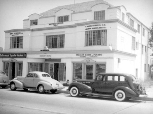 1938 The Crosby Building, 9023 Sunset Blvd, West Hollywood. Home to Bing Crosby Ltd. Inc
