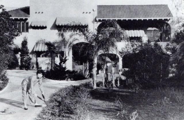 Alla Nazimova prunes the Garden of Alla