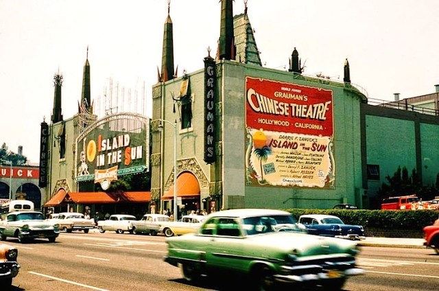 """""""Island In The Sun"""" at Grauman's Chinese Theater, Hollywood. 1957"""
