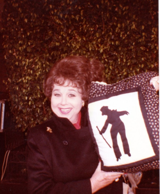 Jane Withers with Eleanor Powell pillow 15FEB1984