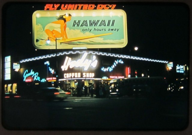 hody's restaurant corner hollywood vine 1959