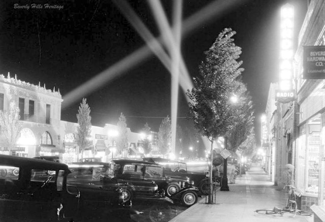 Beverly Drive, Beverly Hills, 1929