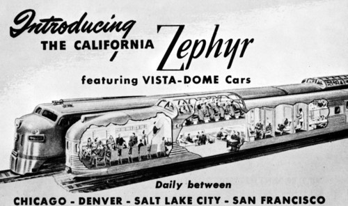 Advertisement: Introducing the California Zephyr (1949-1970)