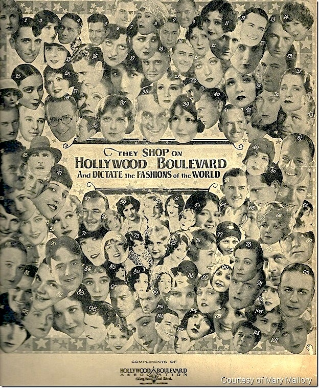 """They shop on Hollywood Boulevard and dictate the fashions of the world."" - Hollywood Blvd Association advertisement"