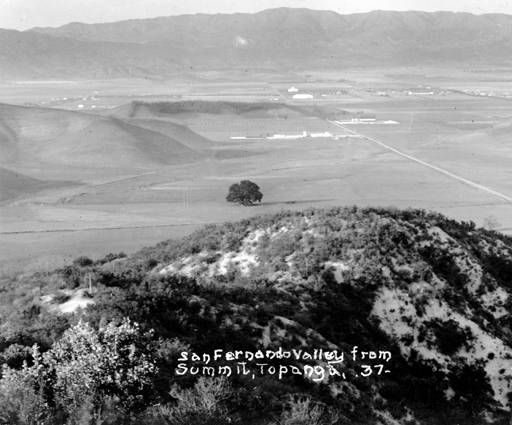 View of San Fernando Valley from Topanga, 1937