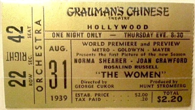"""Premiere of """"The Women"""" at Grauman's Chinese Theatre, Hollywood, August 31, 1959"""