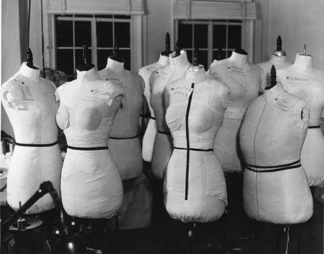Warner Bros.' wardrobe department in 1941 - figure forms for Bette, Olivia, Merle, Mary Astor and others