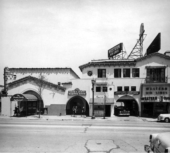 Brown Derby restaurant, Vine Street, Hollywood