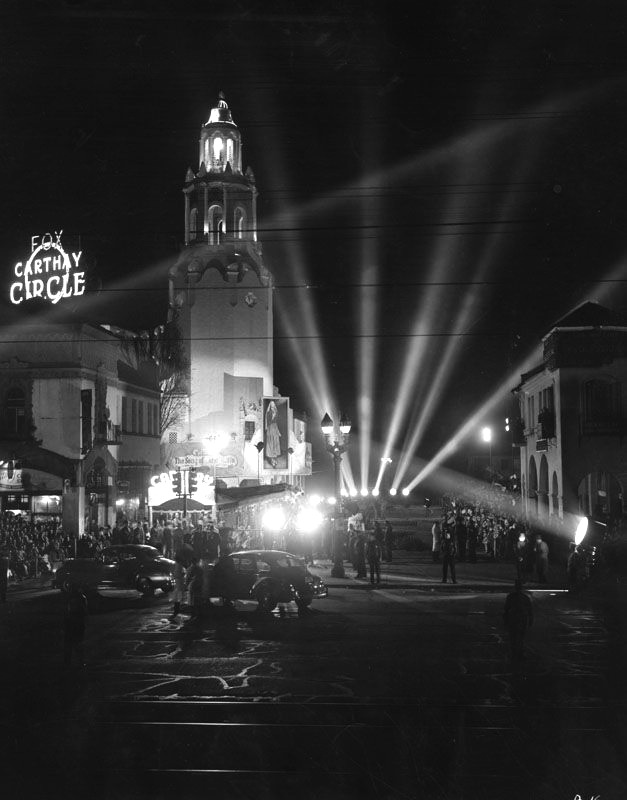 "Invitational preview of ""The Song of Bernadette"" at the Carthay Circle Theater, 1943."