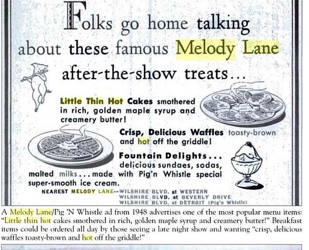 Melody Lane advertisement